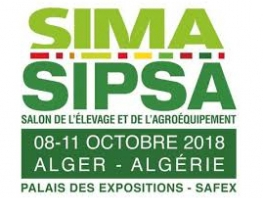 The exhibition SIMA-SIPSA 2018 will take place from the 08th to the 11th of October 2018 in Alger (27 September 2018)
